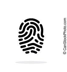 Fingerprint scanner icon on white background.