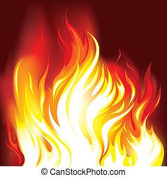 Fire Flames Background, editable vector illustration