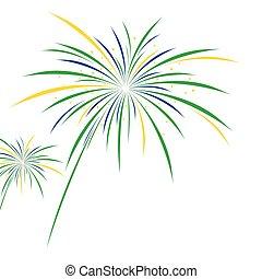 Firework design on white background
