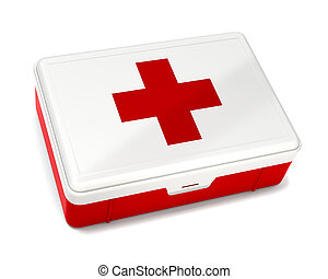 First Aid Kit Isolated on White with Clipping Path