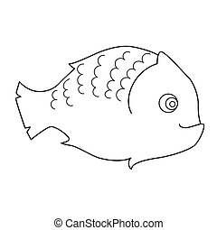 Fish, coloring page for children