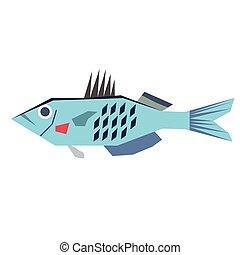 fish flat illustration