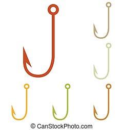 Fishing Hook sign illustration