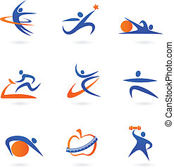 Collection of fitness icons
