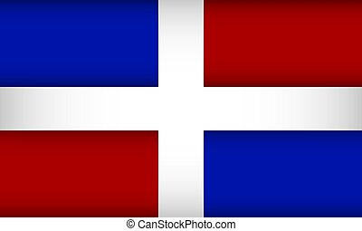 Flag of the Dominican Republic.