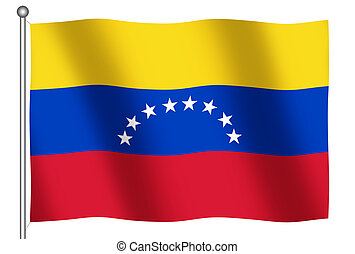 Flag of Venezuela waving (With Clipping Path)