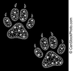 Flare Mesh Carcass Tiger Footprints with Flare Spots