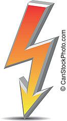 Flash symbol, sign, danger