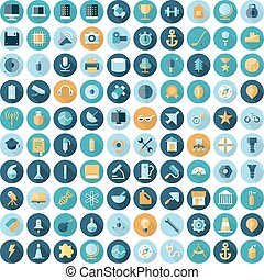 Flat design icons for