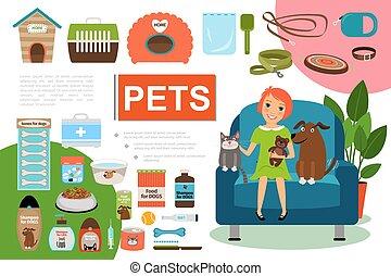 Flat Pets Composition