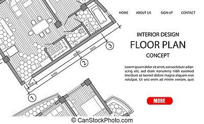 Floor plan of a modern apartment