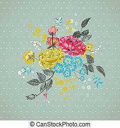 Floral Background - for design, scrapbook - in vector