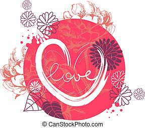 Floral design of Valentine?s day