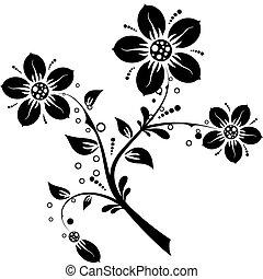 Floral elements for design, vector