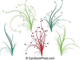 Floral grass, vector