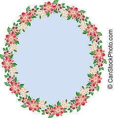 Floral oval frame