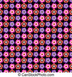 Floral seamless dark pattern (vector)