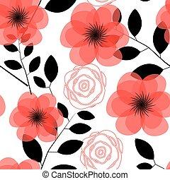 Floral Seamless Pattern Background Vector Illustration