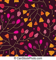 Floral seamless pattern in vector