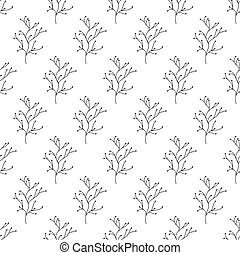 Floral seamless pattern. Isolated on white background. Vector stock illustration.