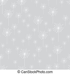 Simple floral seamless tiled pattern. Flowers on a stem. Vector bright background. Can be used for wallpaper, surface textures, scrapbooking, home decor and textile, fabric prints.