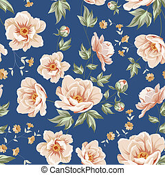 Floral tile pattern.