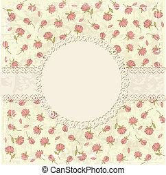 Floral vintage grunge background