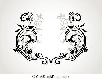 Floral vintage frame