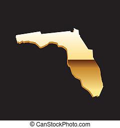 Florida gold map