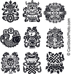 flourish oriental emblem