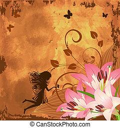 Flower fantasy fairy