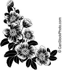 Vector illustration - Flowers corner