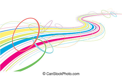 flowing colorful lines.