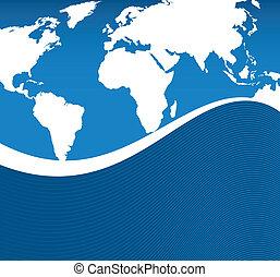 flowing world background