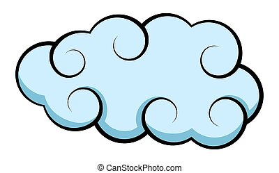 Abstract Retro Stormy Cloud Vector Shape Design