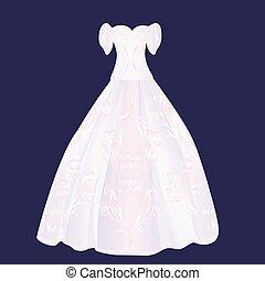fluffy pink wedding dress