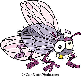 Illustration of funny fly