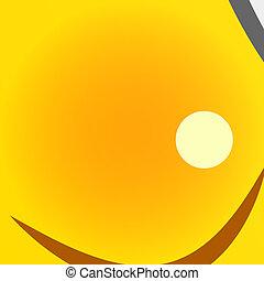 Flying bee character with bucket honey. Vector illustration.