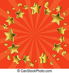 flying stars sunburst