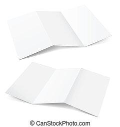 Folded Paper. Illustration on white background for creative design.