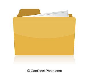 Folder illustration isolated over white