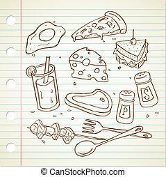 food and baverage doodle