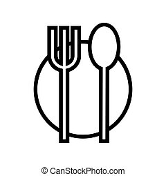 Food icon plate, fork, spoon
