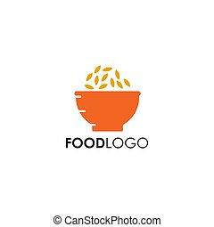 Food logo design with using bowl icon template