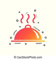 Food platter serving sign icon. Table setting. Vector