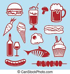 Food set icons