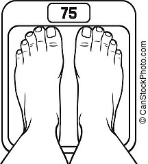 foot on the scale