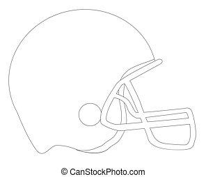 Football helmet Outline Sketch