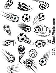 Football or soccer motion balls set