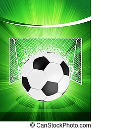 Football poster with soccer ball. EPS 8
